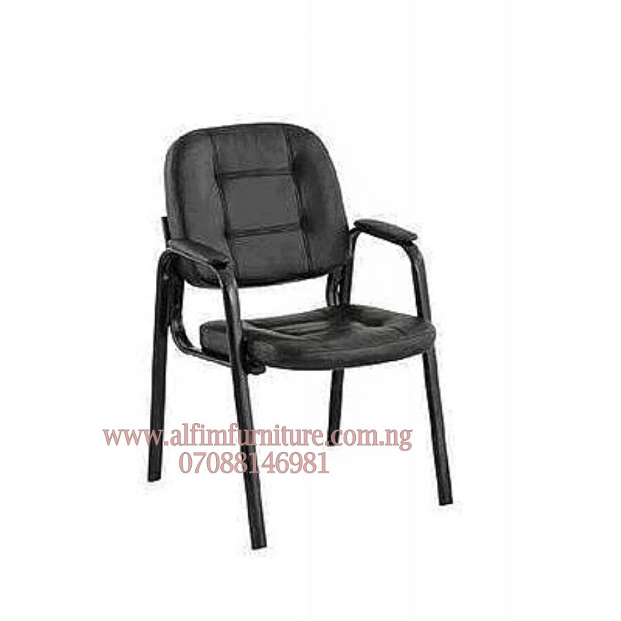 4 Leg Leather Conference Visitor Office Chairs With Armrest