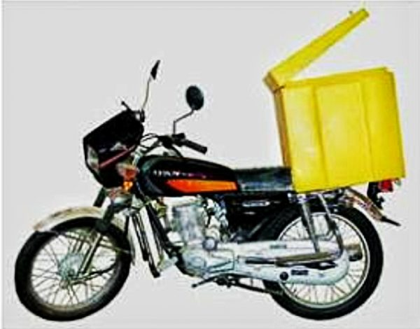 Plastic Motorcycle Courier Delivery Box