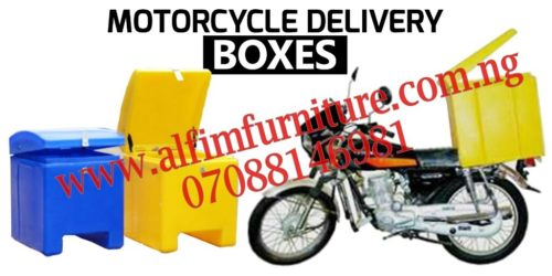 motorcycle courier delivery box