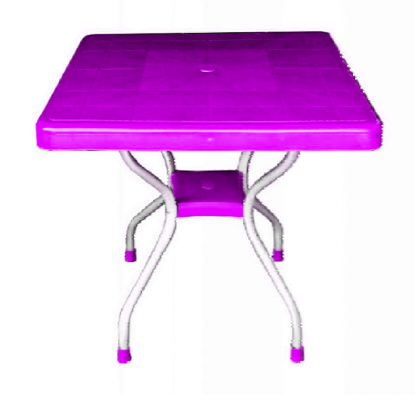 Cruise Plastic Table with Aluminum Legs