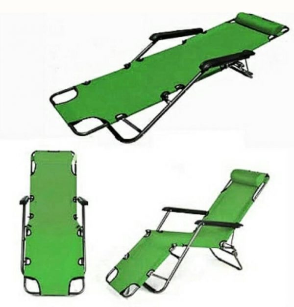 Outdoor Adjustable Foldable  Relaxing Chair Bed