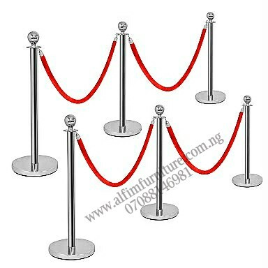 ALFIM NIGERIA Ltd Crowd control stanchion posts and ropes (6P+4R)