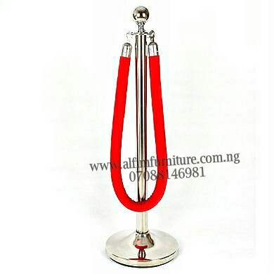 Bank rope barrier stanchion crowd control stanchion