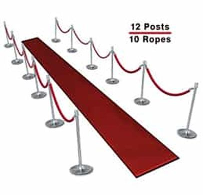 Bank Rope Barrier Stanchion Queue Line Manager