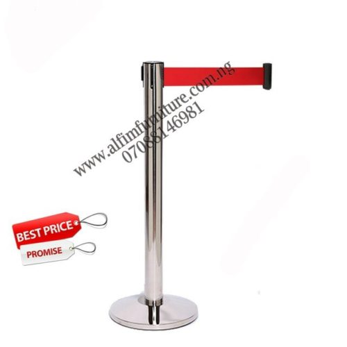 retractable belt crowd control barrier stanchion