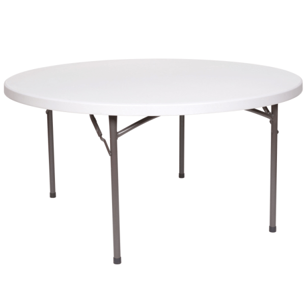 5ft Round Plastic Foldable Banquet Table
