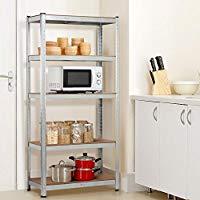 Boltless Steel Shelving Rack With 5 Adjustable Shelves
