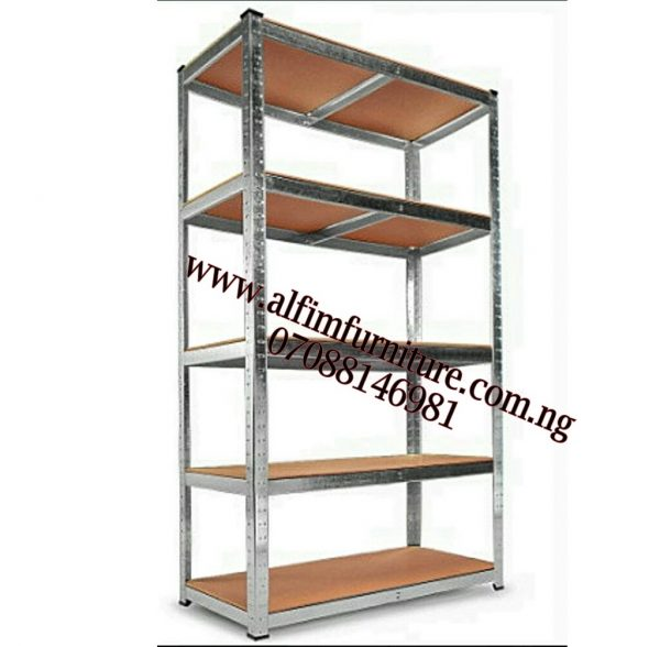 Boltless Steel Shelving Rack With 5 Adjustable Shelves