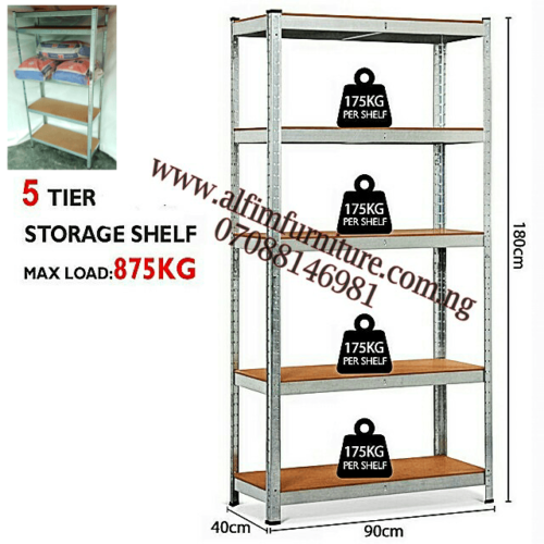 Alfim furniture Nigeria Boltless steel shelving rack _4_3_2
