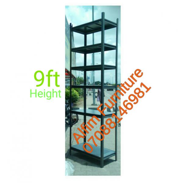 Bolted steel shelving rack storage shelf with adjustable shelves