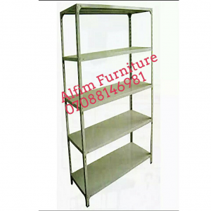 Bolted steel shelving rack