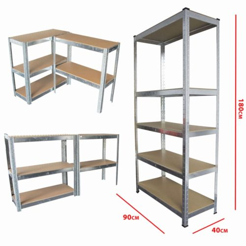 garage shelving units Unique Boltless 5 Tier Heavy Duty Garage Storage Metal Steel