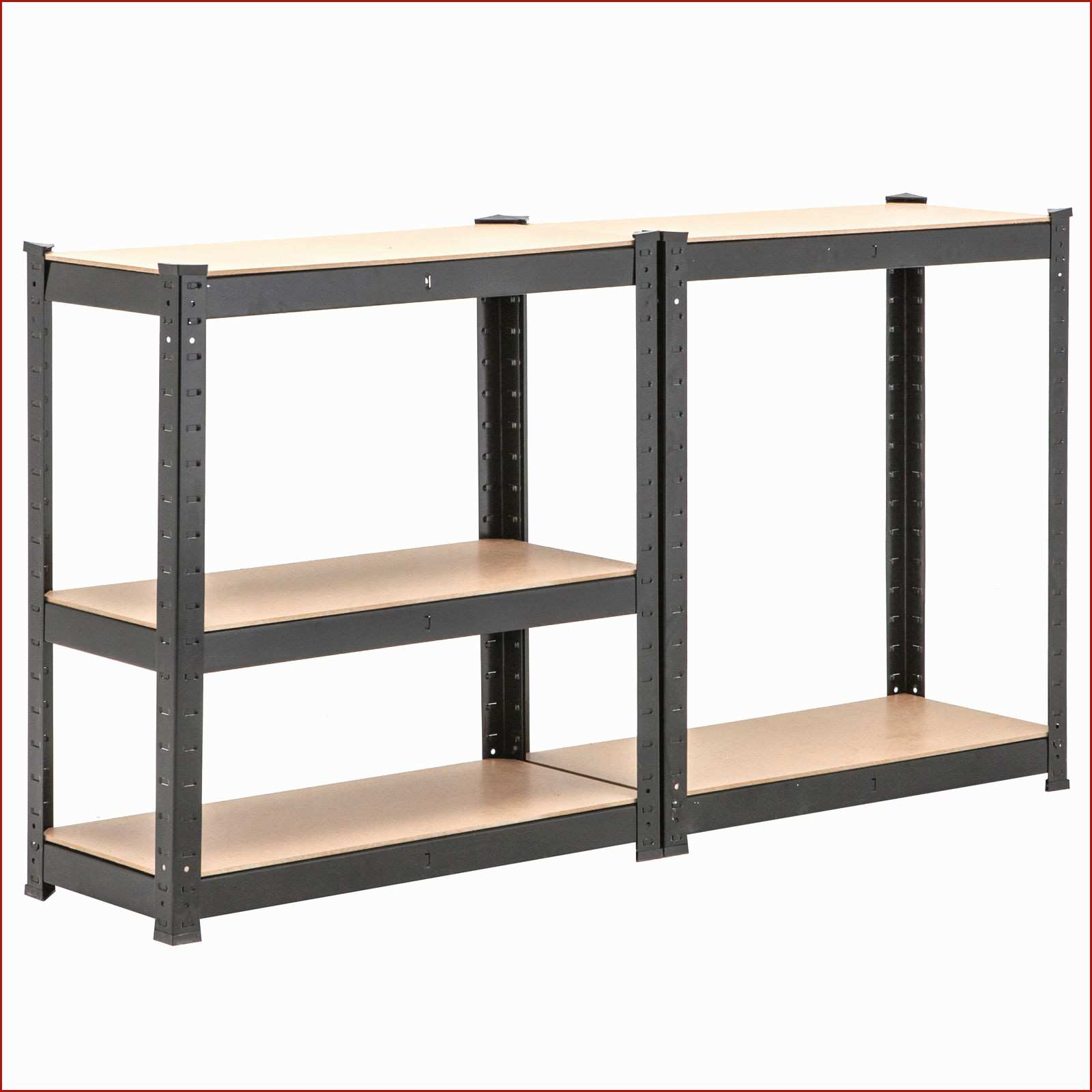 Boltless Steel Shelving Rack With 3 Adjustable Shelves