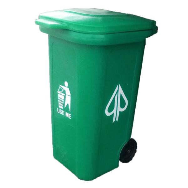 660 litre Plastic Wheelie Waste Bin With 4 Tyres